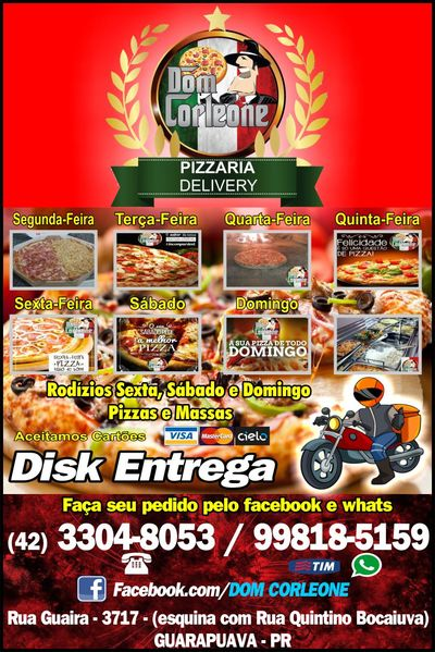 Pizzaria Dom Corleone Delivery - Guia Comercial Torres