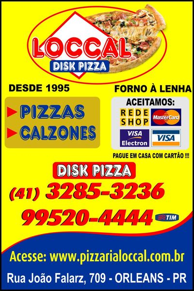Loccal Disk Pizza Calzones  - Guia Comercial Torres